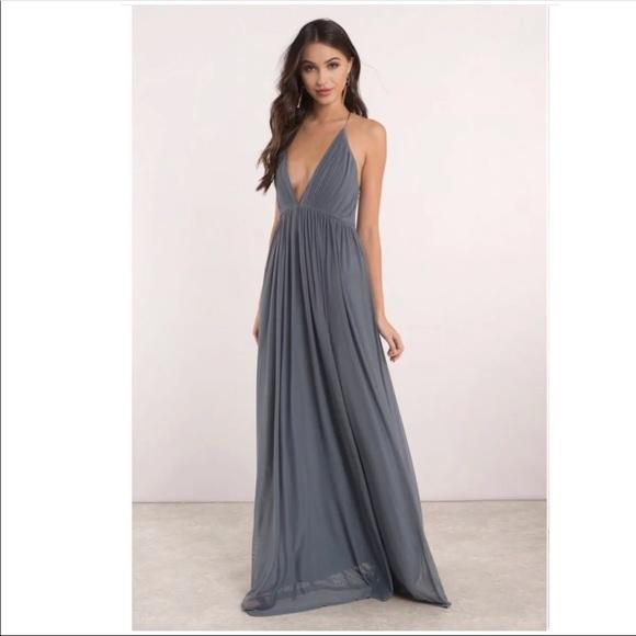 Dark Grey Formal Dress. NWT. Tobi 2c427a334